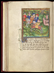 Edmund Riding To Bury St. Edmunds, In John Lydgate's 'Lives of St. Edmund and St. Fremund', etc.